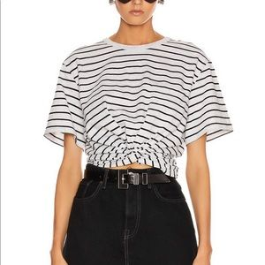 High Twist Thin Stripe Pocket Tee